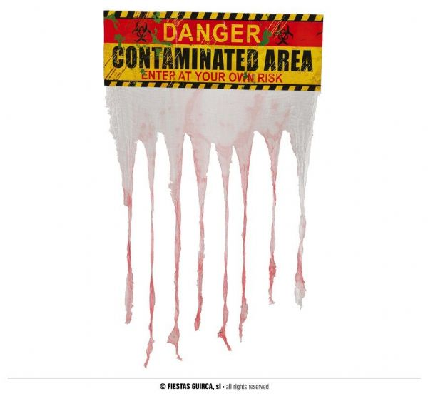 Danger Contaminated Area Curtain Sign